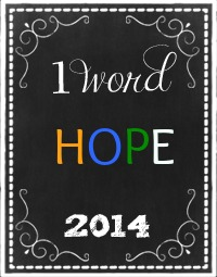 OneWord Hope 2014