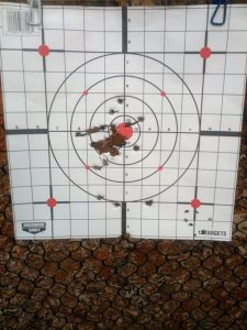 One of my targets from some recreational shooting.
