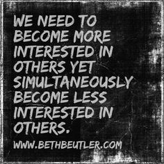 we need to become interested