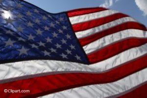 CA-American Flag