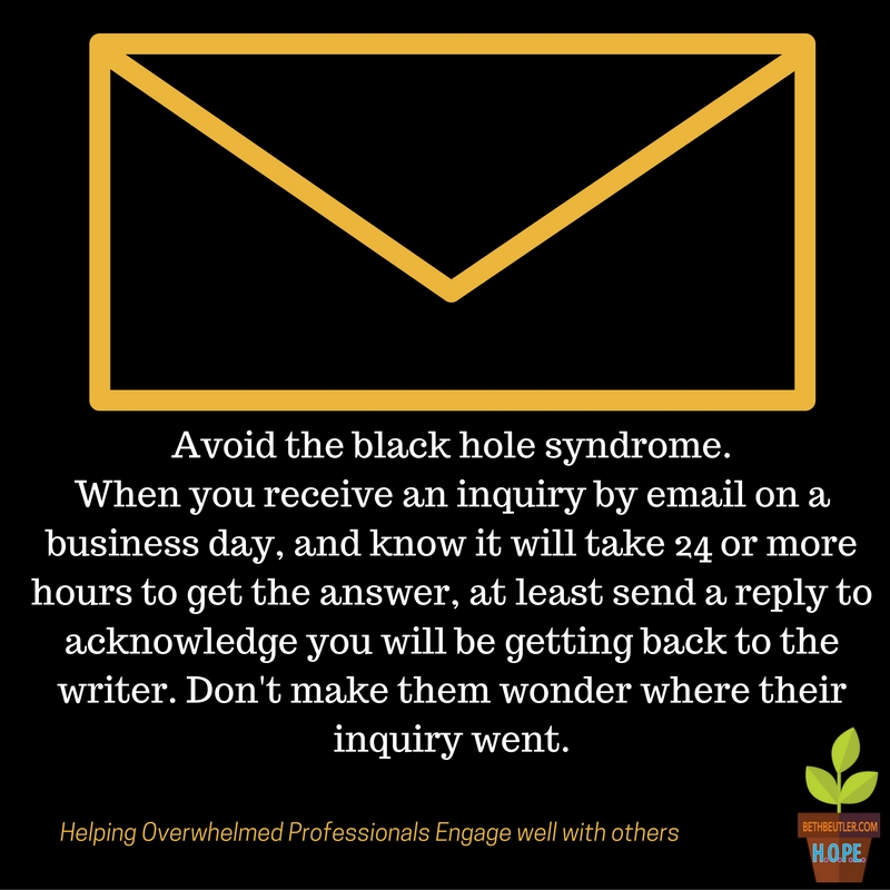 Black hole syndrome