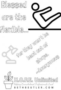 Be flexible coloring sheet
