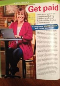 It was fun to be featured in FIRST for Women and  Women's World Magazines.